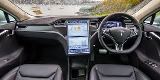 suv tesla inside 2015 tesla model s p85d dashboard and head unit interior 6747
