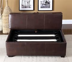 Pull Out Ottoman Ottoman In Brown Or Black With Pull Out Bed