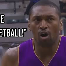 Metta World Peace Meme - metta world peace shouts i love basketball in the middle of his