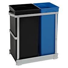 interior design elegant cylinder simplehuman recycler for cozy