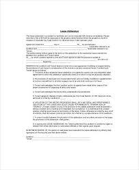 lease addendum template lease addendum template ez landlord forms