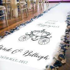 personalized wedding aisle runner aisle runner home furniture diy ebay