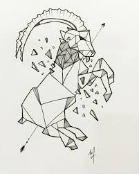 geometric line mountain goat u2022 personalize tattoo design