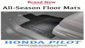 honda pilot all weather mats genuine honda 08p17 tg7 100 all weather floor mat for 2016 pilot