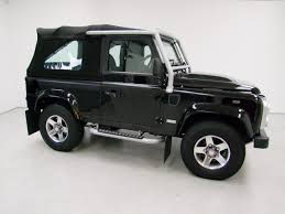 land rover defender black land rover defender 90 svx soft top nick whale sports cars
