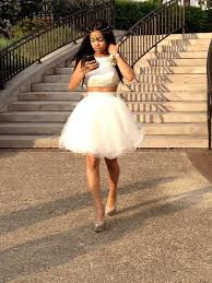 2016 cheap two piece black prom dresses under 100 short ivory