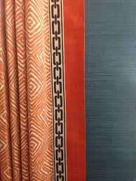 drapery panel with banding and flat braid trim drapery window