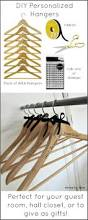 diy personalized wood hangers perfect for guests or bridesmaid