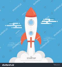 vector rocket launch vector illustration modern stock vector