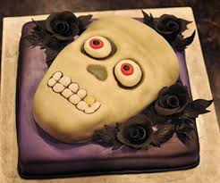 halloween party cake with characters from the nightmare before