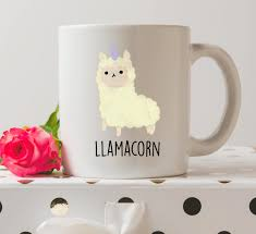 llamacorn mug cute mugs llama mugs unicorn mugs