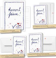 hochzeitskarten design einladungskarten kommt feiern weiß blau rot blumen eine der