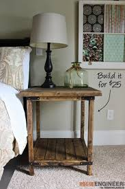 rustic end tables cheap simple square side table free diy plans rogue engineer