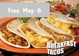 may 6 taco cabana free breakfast taco