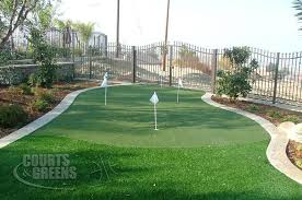 Putting Turf In Backyard Courts And Greens Backyard Custom Putting Greens