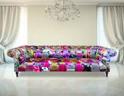 Chesterfield Sofa Patchwork Chesterfield Patchwork 4 Seater Fabric Sofa Settee