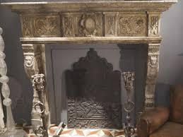 lion head 19th century italian stone surround antique fireplaces