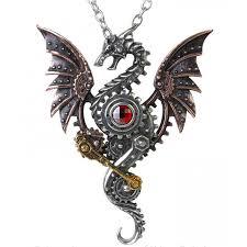 blast furnace behemoth steampunk dragon necklace steampunk