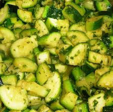 cuisiner l ail courgettes sautées à l ail et au persil les recettes de virginie