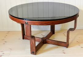 Glass Top Table Norwegian Round Glass Top Table By Oddmund Vad 1974 For Sale At