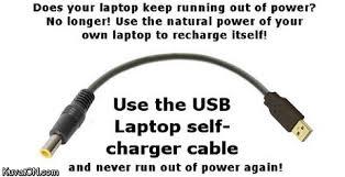 Laptop Meme - meme classics usb laptop self charger cable