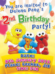 2nd Birthday Invitation Card Happy 2nd Birthday Delene Pang Creative Melancholic