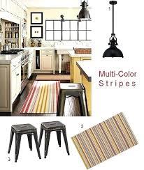 Striped Kitchen Rug Striped Kitchen Rug A Multi Color Striped Kitchen Rug Adds Instant