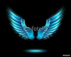 blue glowing angel wings wall sticker wall stickers blue glowing angel wings wall sticker