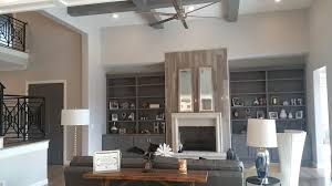Wall Unit Bookshelves - high end sectional living room beach style with coffered ceiling