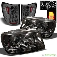 jeep grand cherokee led tail lights for smoked 99 04 jeep grand cherokee halo led pro headlights led