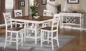 coaster ashley counter height dining set oak antique white