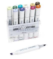 extra color set of 12 copic sketch marker pens ex 6 set in art