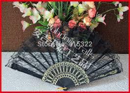 black lace fan aliexpress buy 100pcs lot free shipping plastic frame black