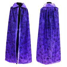 purple orange adult cosplay hooded cape carnival halloween costume