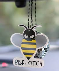 new bumblebee bling car pendant auto rearview mirror ornament
