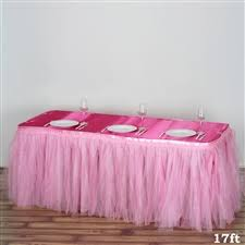 tutu style tulle table skirts tablecloths chair covers table