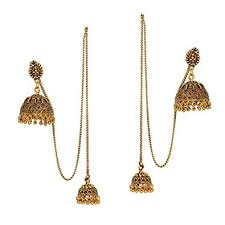 new jhumka earrings buy designer new look oxidised kashmiri jhumka earrings for
