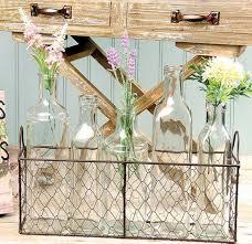 bottle decorative wire basket glass decor wine bottles vintage