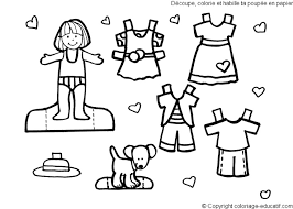 multiracial outline drawing paper doll clipart free multiracial