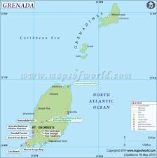Map Of Caribbean Islands And South America by Grenada Map Map Of Grenada