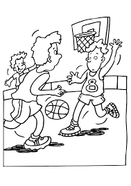 playing basketball coloring pages sport coloring pages