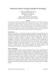 fabrication of passive elements using ink jet technology pdf