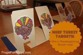 nerf turkey targets for a thanksgiving shoot out