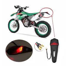 bicycle rear fender light motorcycle bike rear fender taillight of the leds stop for enduro 12