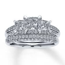 diamond bridal sets wedding rings vintage princess cut bridal sets matching wedding