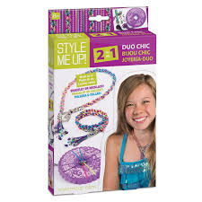 necklace making charms images Girls jewelry making kit diy rainbow necklace and bracelet jpg