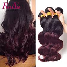 Hair Weave Extensions by Ombre Hair Extensions 7a Malaysian Virgin Hair 3 Bundles T1b