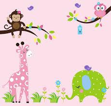 Animal Wall Decor For Nursery Nursery Wall Decal Wall Stickers Jungle Animal Wall Decals With