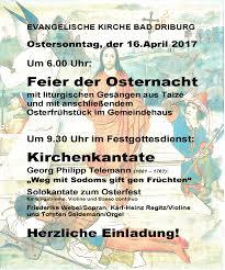 Bad Driburg Klinik Besondere Musik Am Karfreitag Und Ostern In Der Ev Kirche