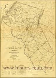 County Map Virginia by Fauquier County